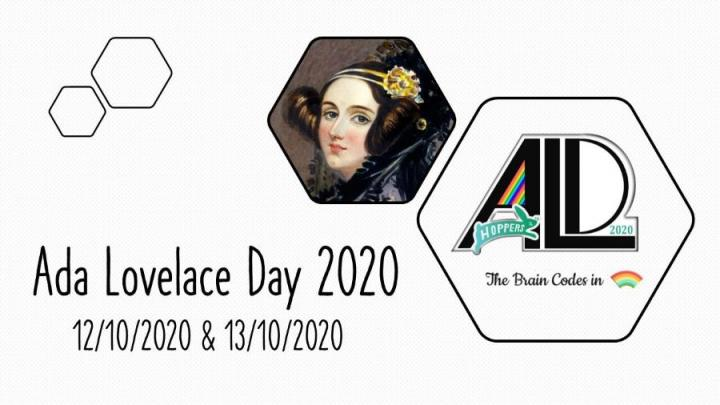 Poster for Hopper's two-day programme of events celebrating Ada Lovelace Day, including a picture of Ada Lovelace.