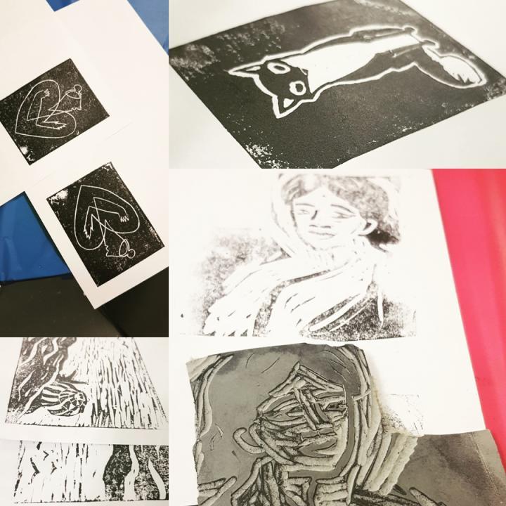Examples of linocut art
