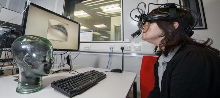 Image of the eye tracking lab