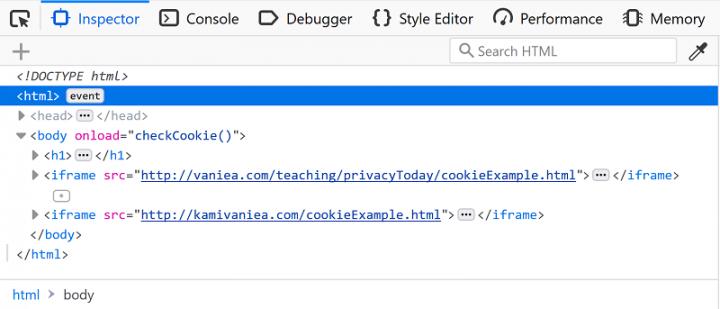 Web Inspector Firefox