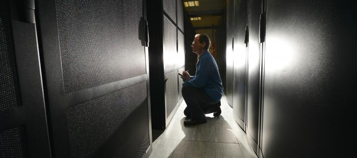 Pictured is Luis Felipe Sopher de Popovics, Cray System Engineer with the Archer supercomputer.