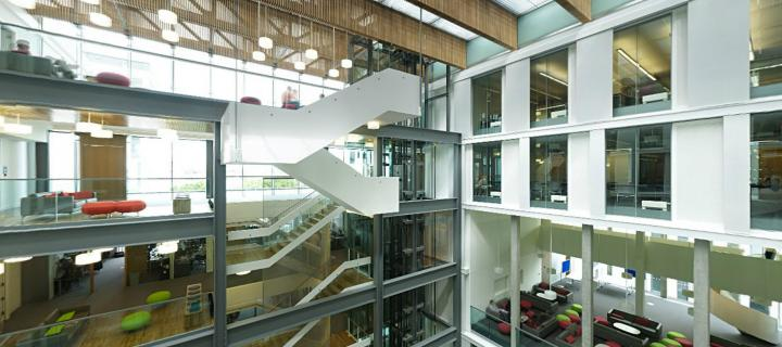 photo of interior of informatics forum