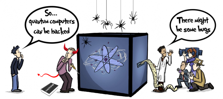 Quantum computer cartoon